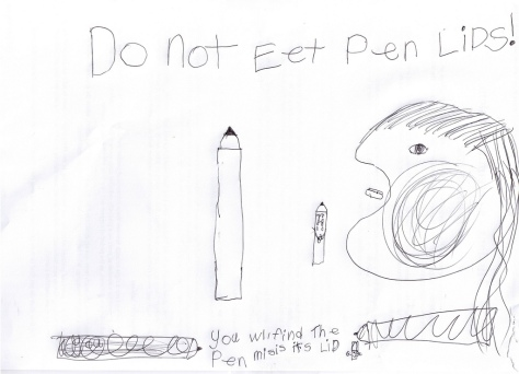 Do not eet pen lids!